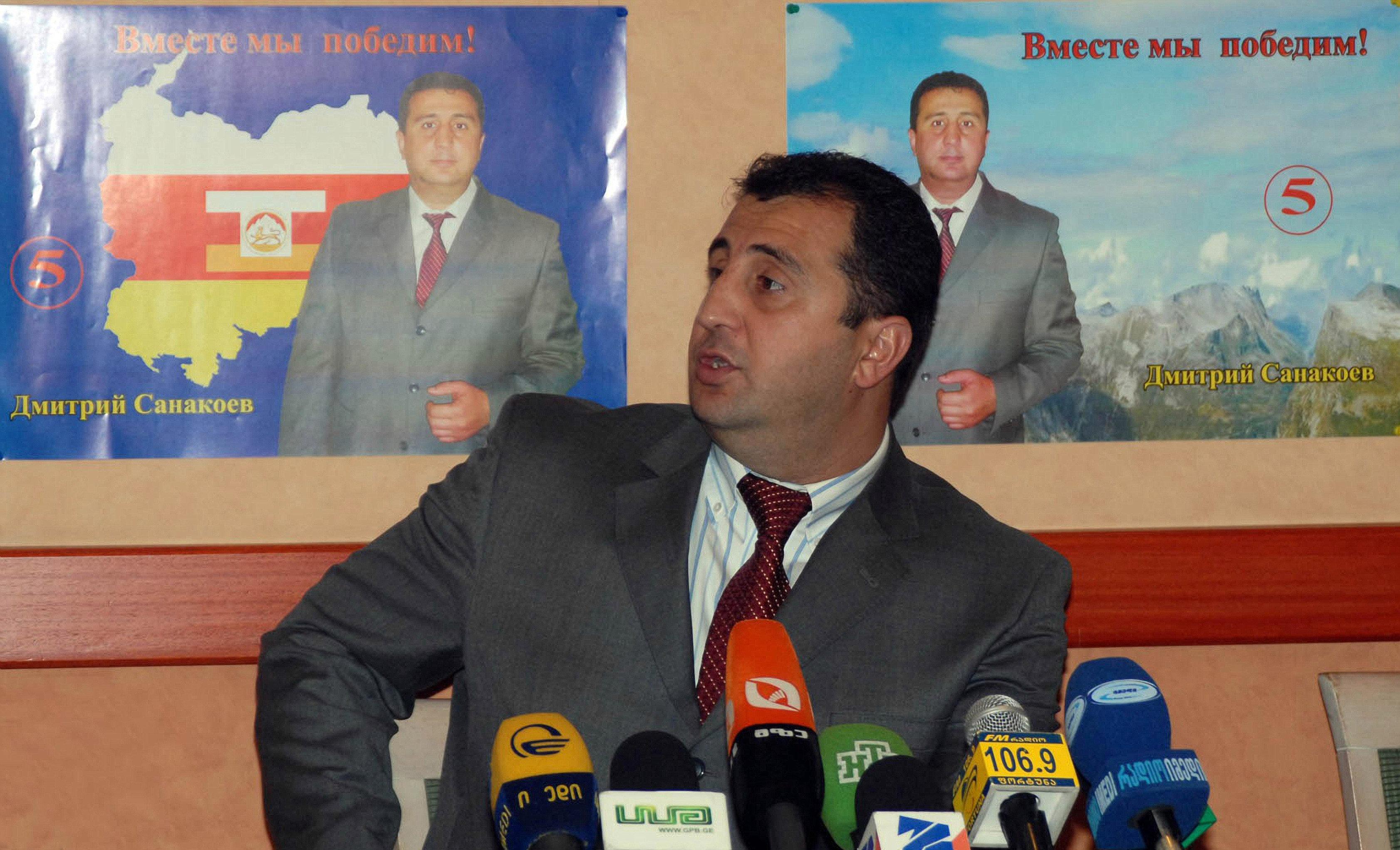 Глава временного правительства Южной Осетии Дмитрий Санакоев