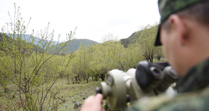 Российские пограничники на страже границы РЮО