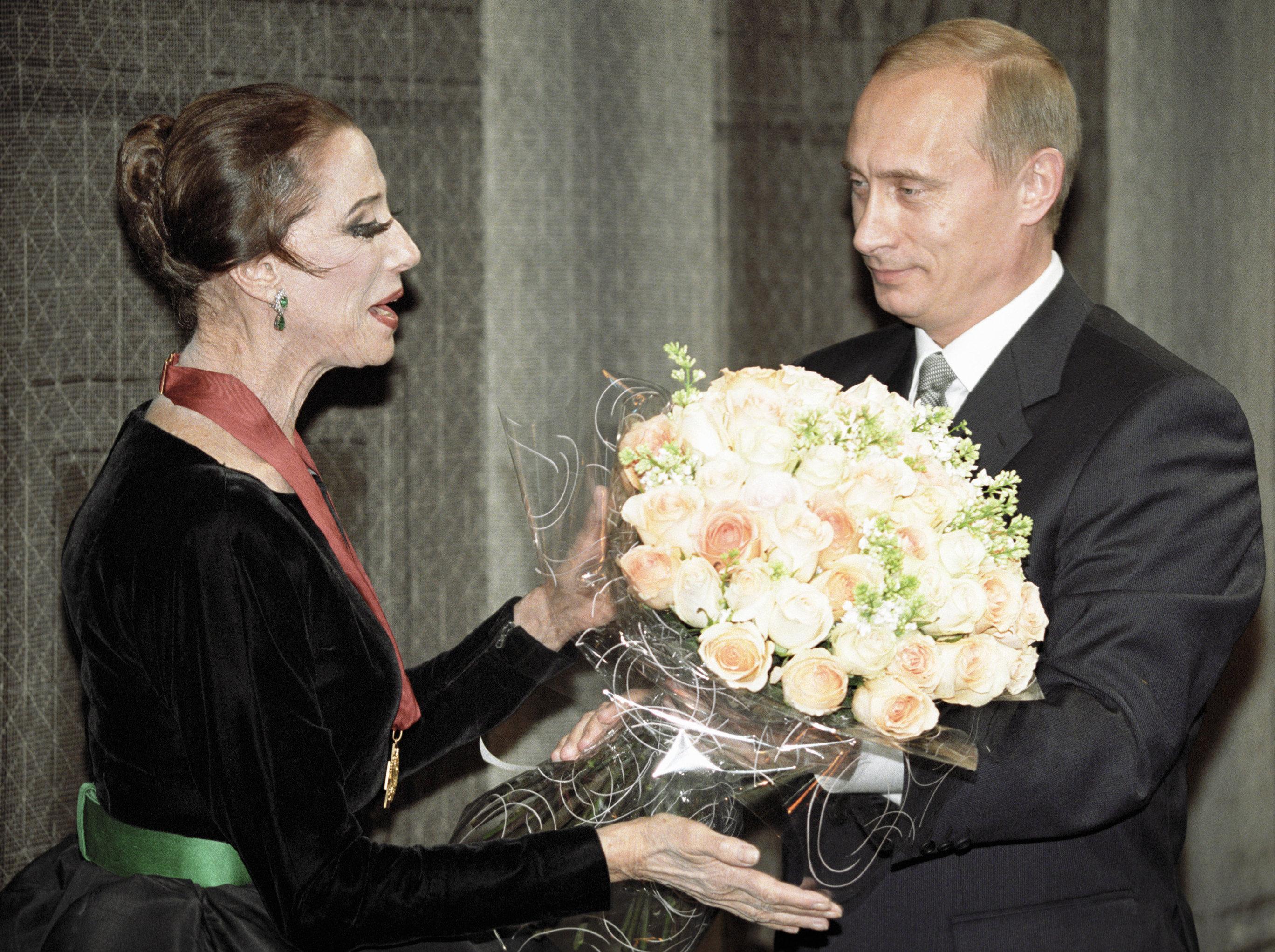 Владимир путин, Майя Плисецкая