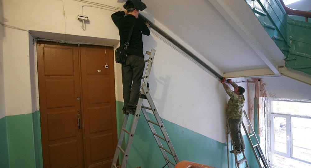 Работа коммунальных служб в Цхинвале