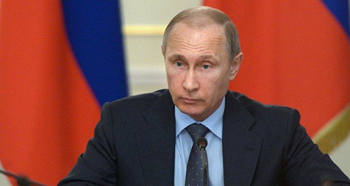 Президент РФ В.Путин провел совещание с членами правительства РФ