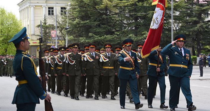 Генеральная репетиция Парада Победы прошла в Цхинвале