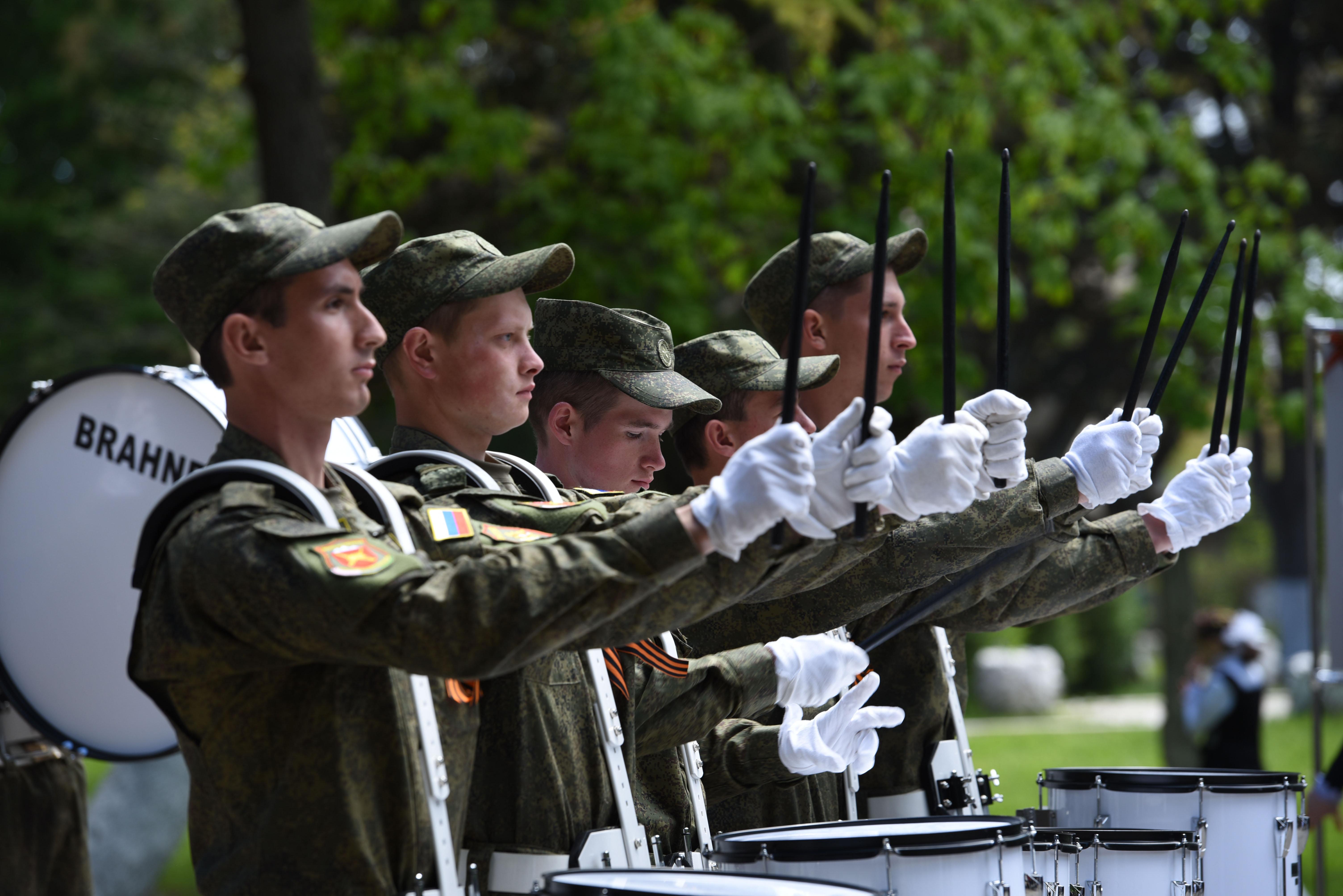 Оркестр российской базы в Южной Осетии