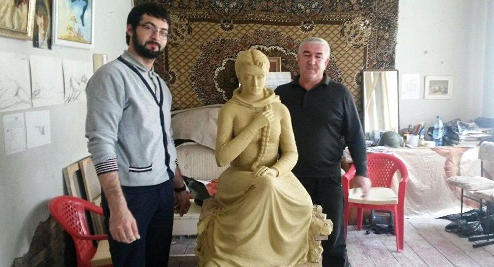 Макет скульптуры Фатима