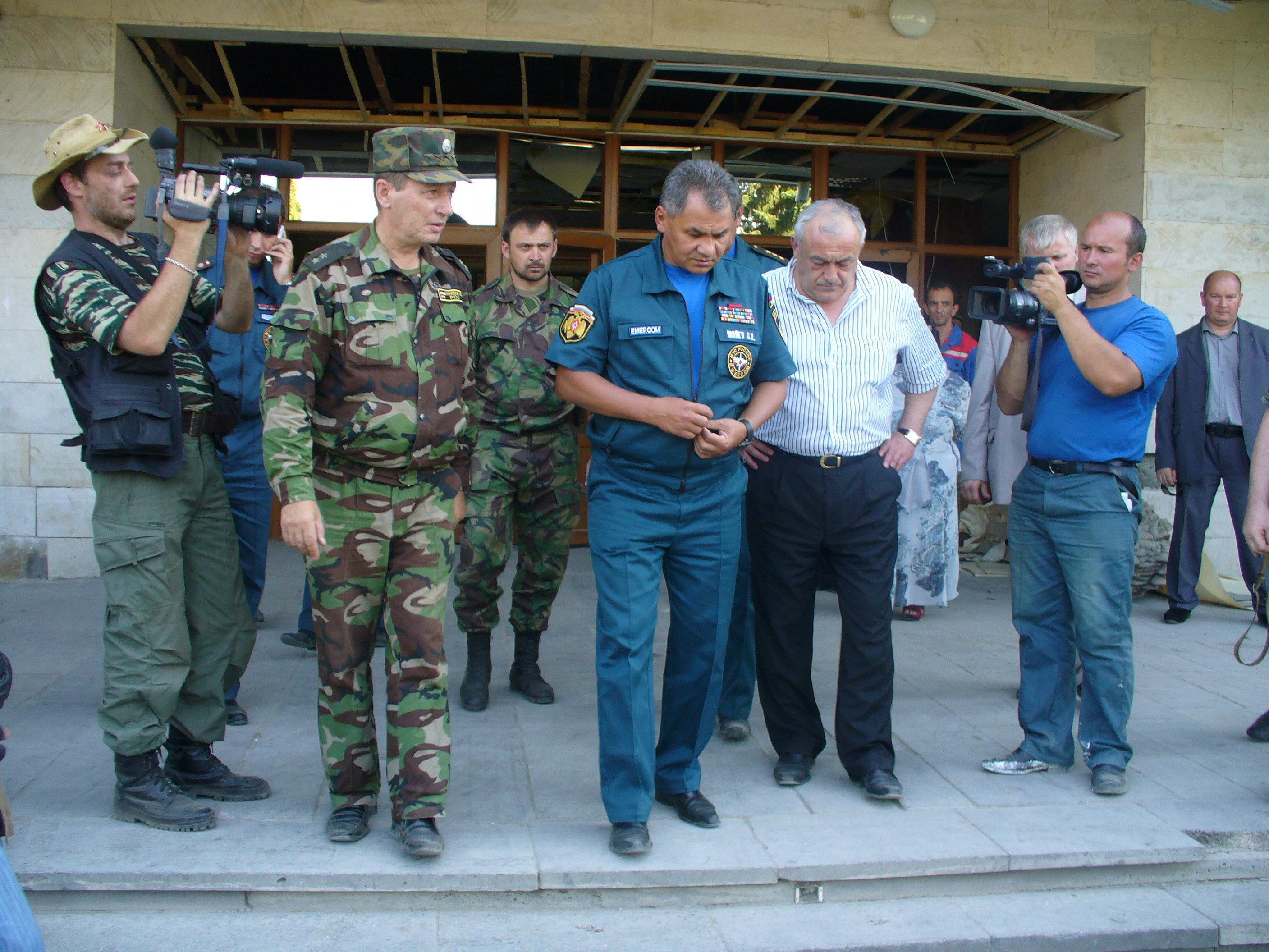Сергей Шойгу был в Южной Осетии в 2008 году
