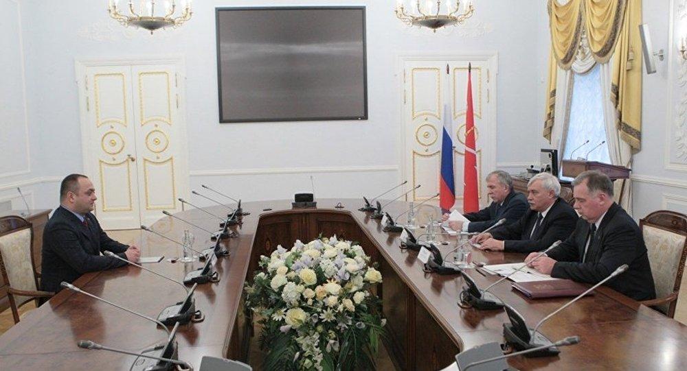 Посол Знаур Гассиев встретился с Губернатором Санкт-Петербурга Георгием Полтавченко