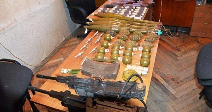 Оружие и боеприпасы, найденные в Знаурском районе