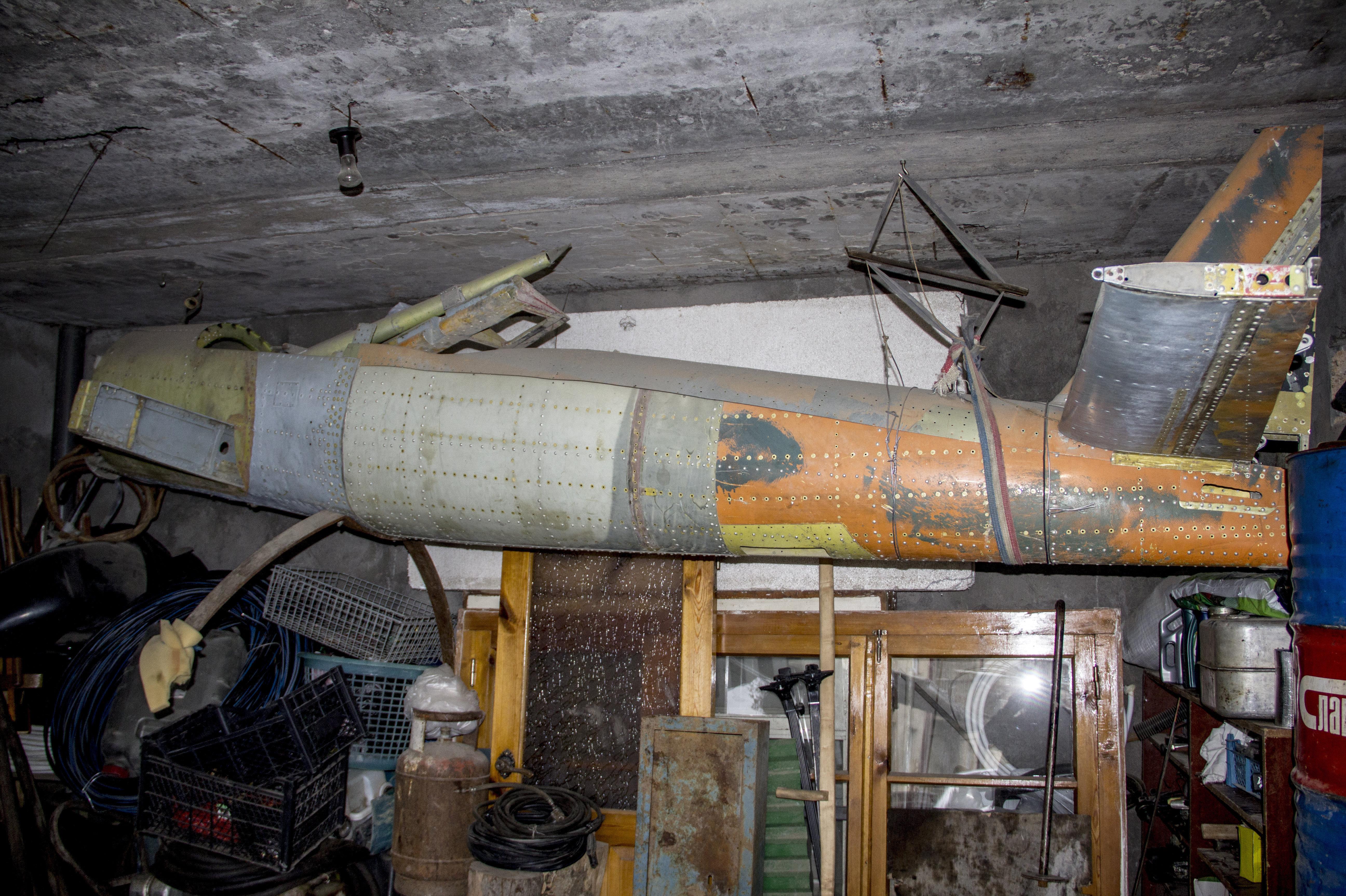 Недостроенный самолет Петра Хубежова.