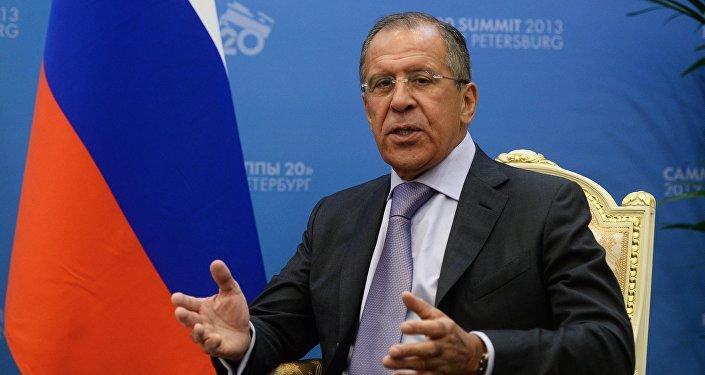 Министр иностранных дел РФ Сергей Лавров, архивное фото.
