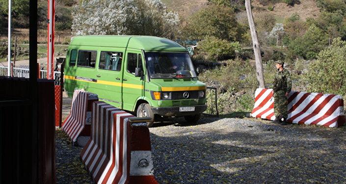 Пункт упрощенного пропуска на границе с Грузией