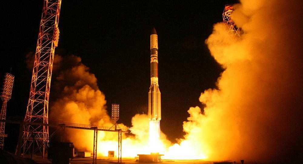 Запуск ракеты-носителя Протон-М