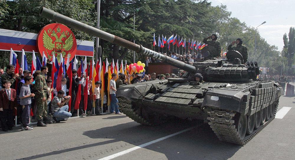 Парад в честь Дня независимости Южной Осетии