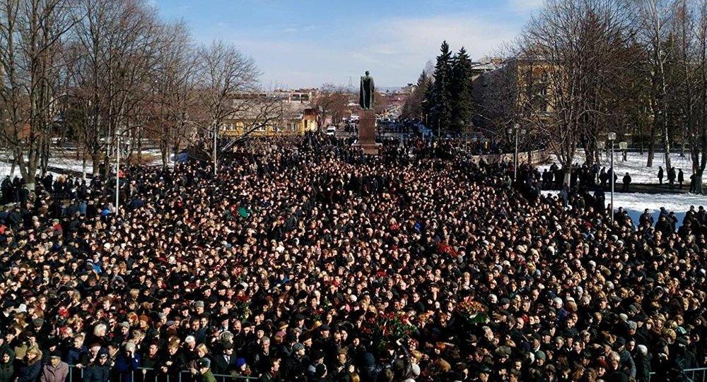 Траурный митинг памяти Тамерлана Агузарова