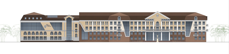 Проект нового здания ЮОГУ