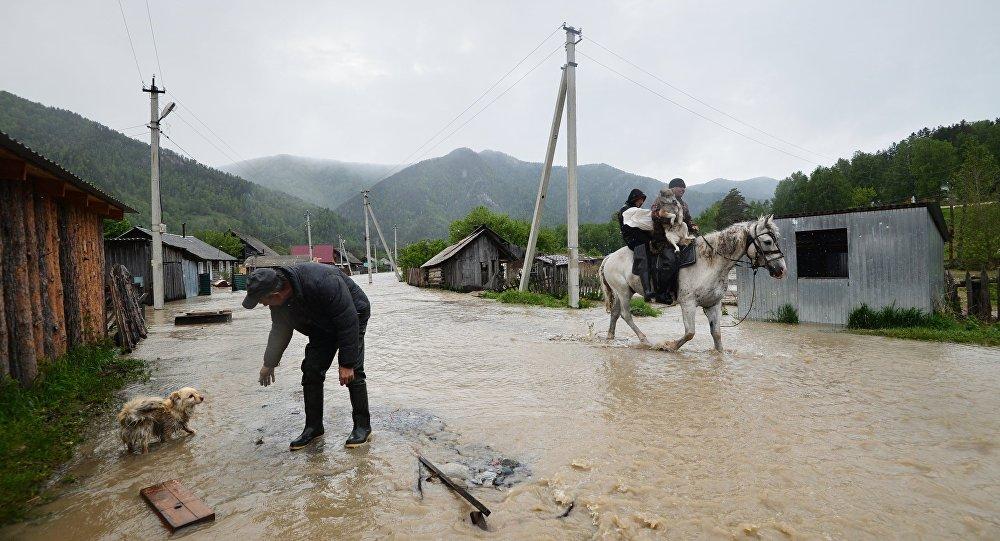 Наводнение в горной местности
