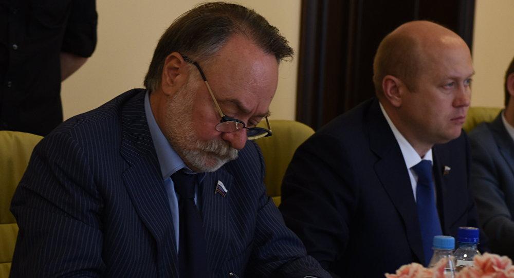 Заседание Комиссии по сотрудничеству Совфеда РФ и парламента РЮО