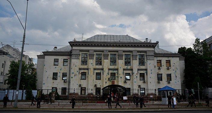 Здание посольства России на Украине в Киеве