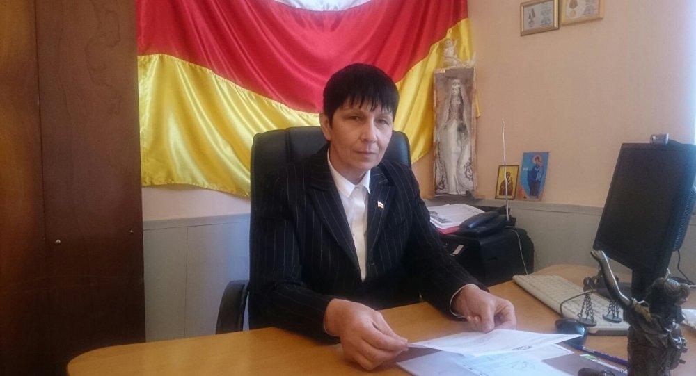 Глава фонда защиты раненных РЮО Мадина Плиева