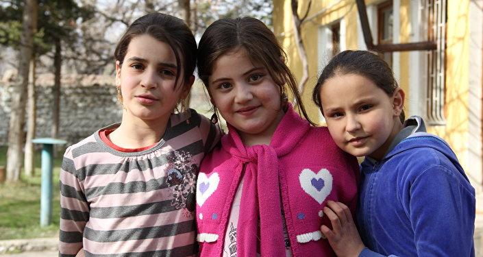 Воспитанники детского дома в Ленингоре.