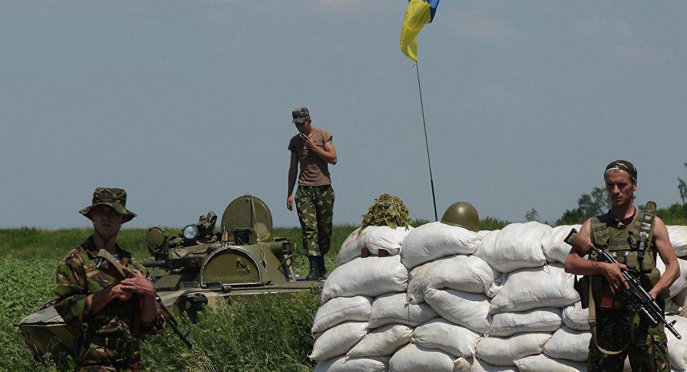Блокпост украинских военных