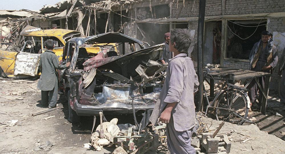 После взрыва в городе Кабул