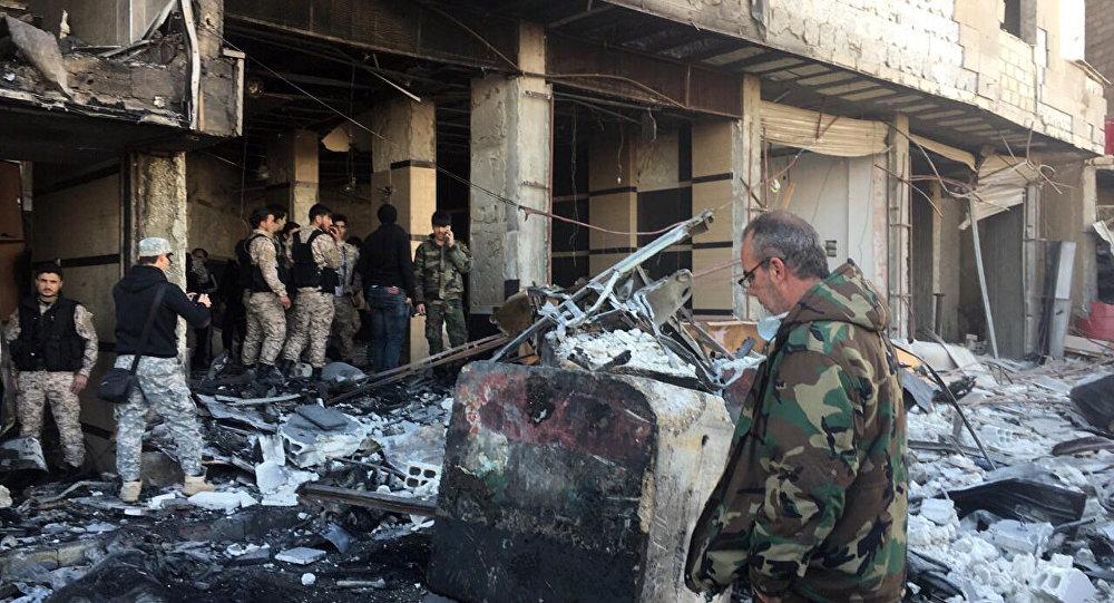 В итоге взрыва заминированного автомобиля вДамаске погибли восемь человек