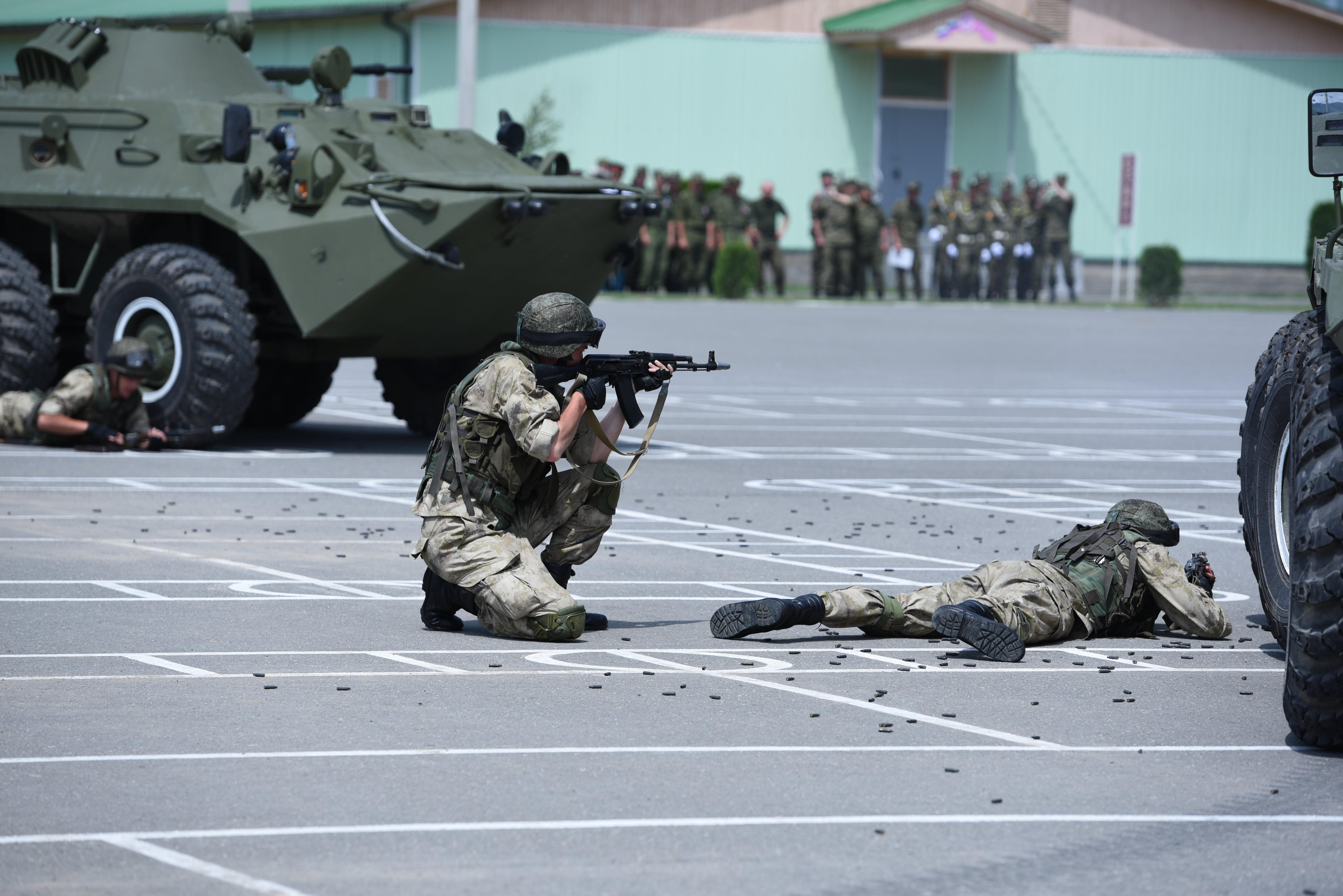 Показательные выступления на военной базе в РЮО