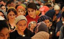 Служба в храме Алагирского Богоявленского монастыря