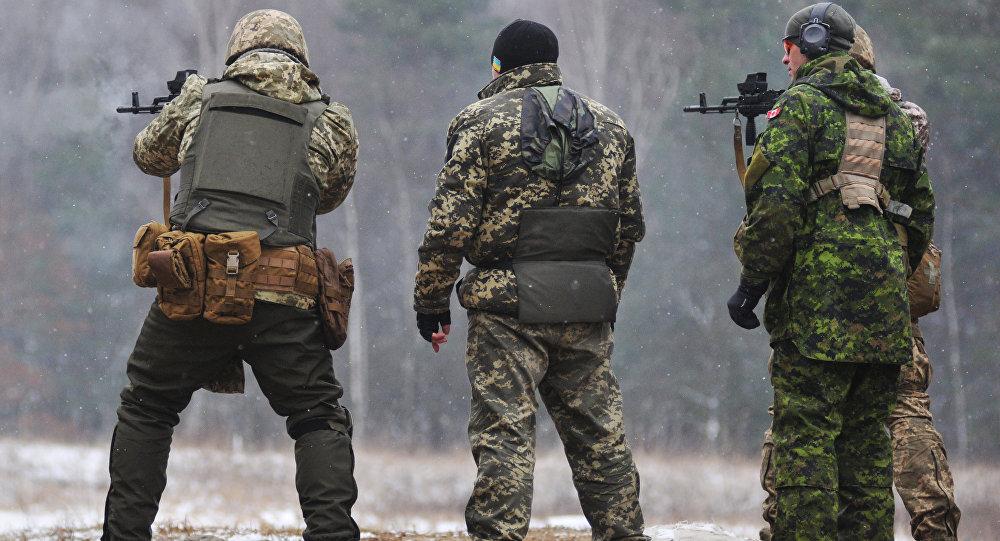 Обучение украинских военнослужащих канадскими инструкторами по программе UNIFIER на Яворивском полигоне