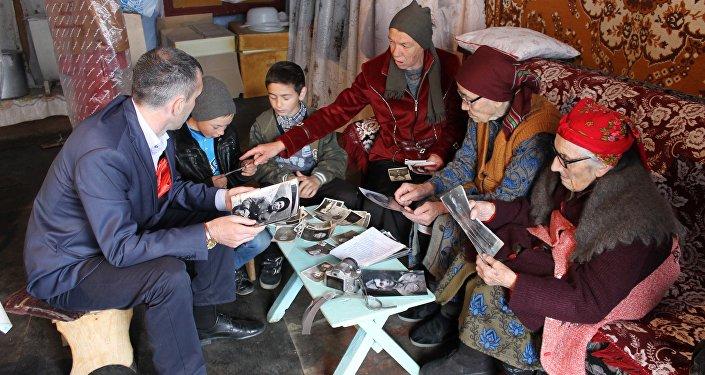 Жители высокогорного села Камунта в Северной Осетии