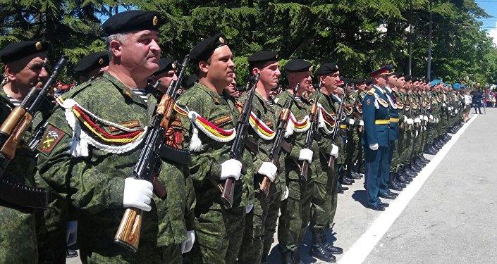 Парад Победы в Цхинвале