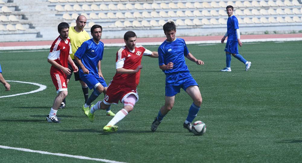 Футбольный матч в Цхинвале