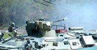 Российские военные в Абхазии палили  из всех стволов