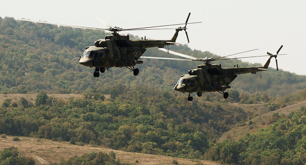 Вертолёты Ми-8 вооруженных сил РФ