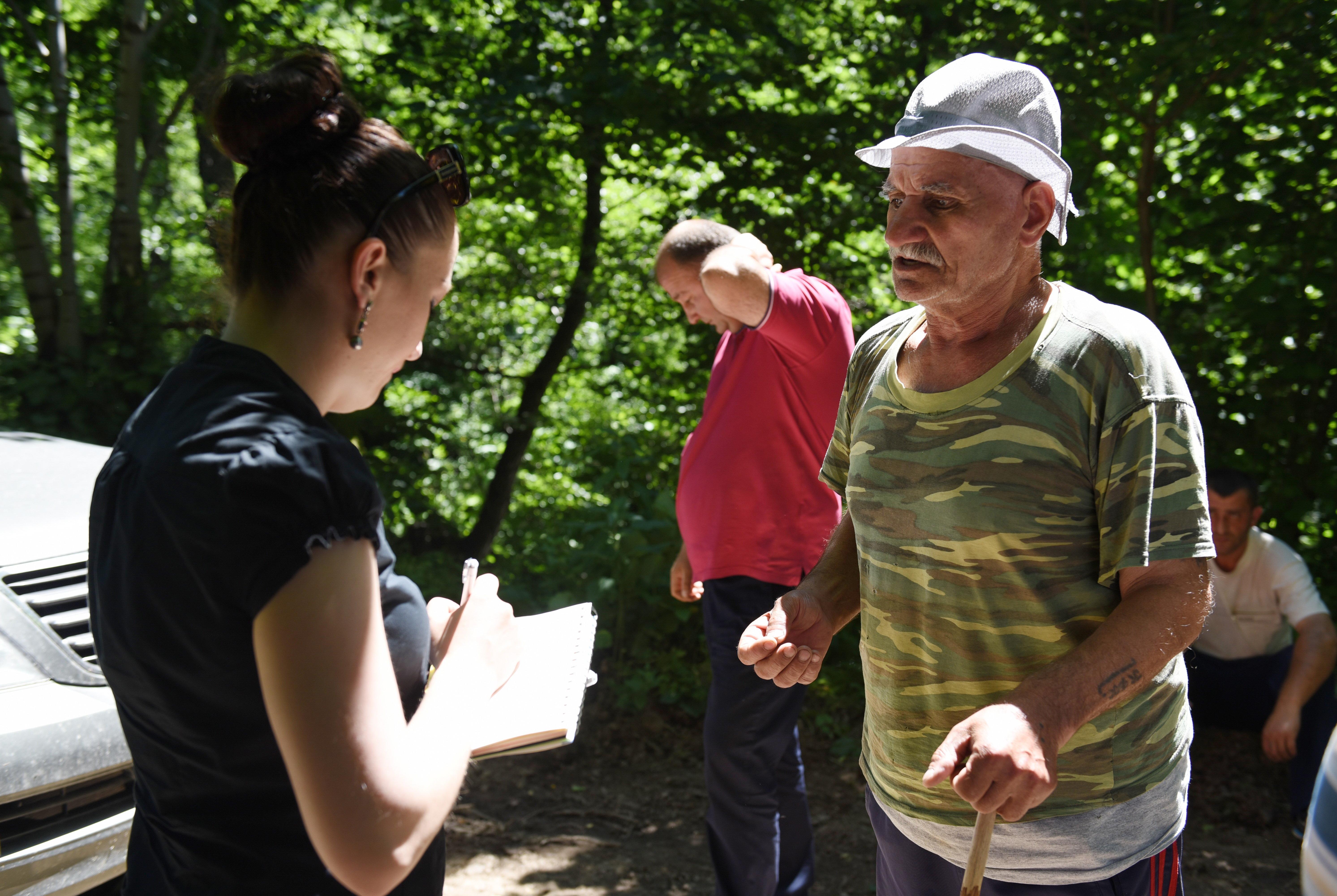 Житель селения Лопан Заур Кулумбеков