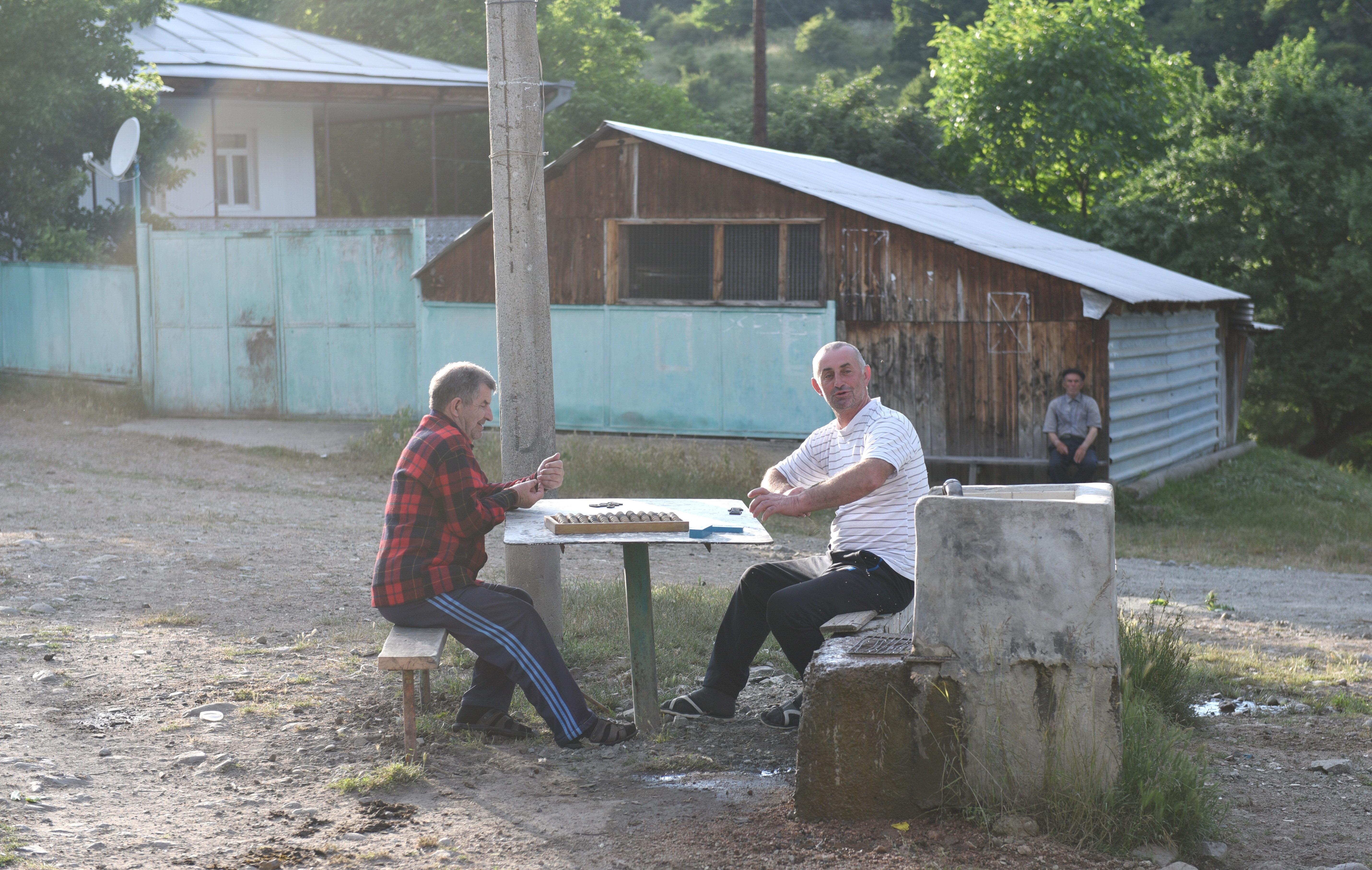 Жители селения Лопан