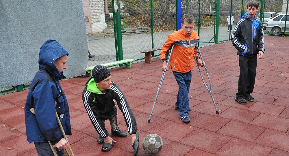 Цхинвалы инвалидты футболон командӕ бацахста призон бынат дунейон турниры