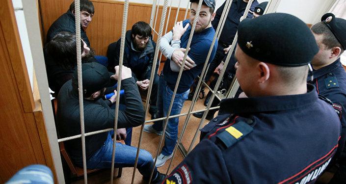Рассмотрение ходатайства следствия о продлении срока ареста фигурантам дела об убийстве политика Б. Немцова