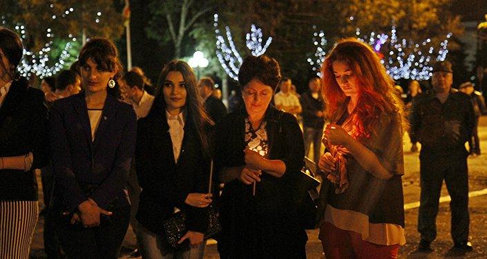 Свеча памяти в Южной Осетии