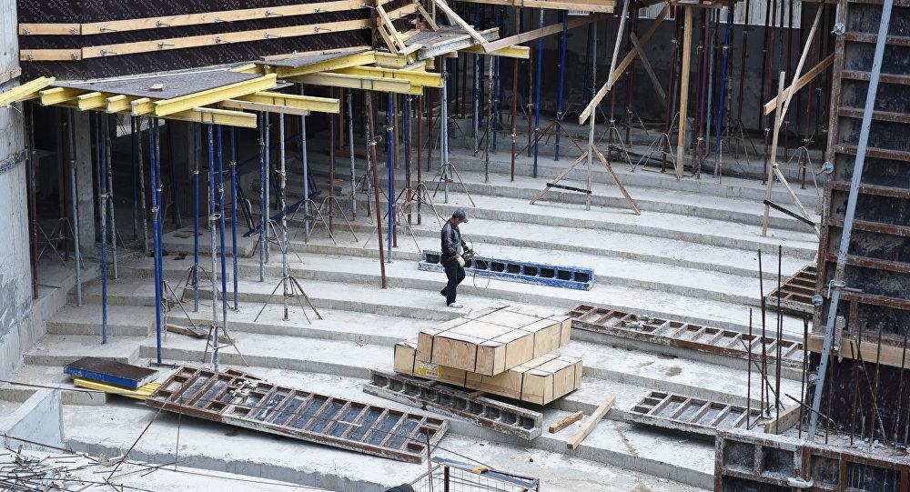 Строительный объект в Цхинвале