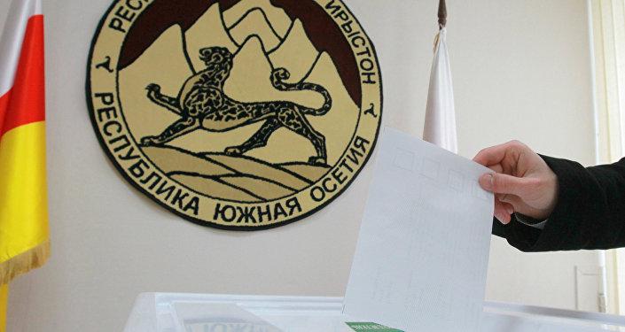 Участок для выборов президента Южной Осетии