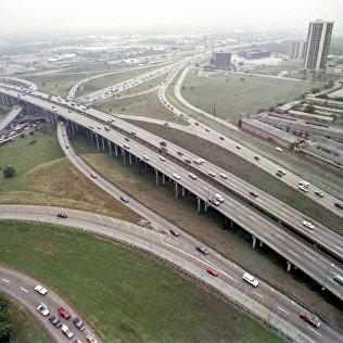 Автострада при въезде в город Хьюстон