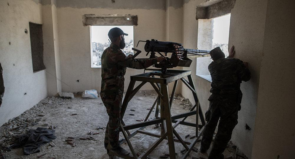 ВАлеппо сирийская армия отражает масштабную атаку террористов