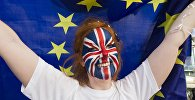 Сторонница членства Великобритании из Евросоюза у арены Уэмбли в Лондоне