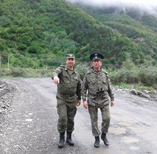 Казаки и пограничники на охране североосетинского участка границы