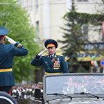 Замминистра обороны Гассеев докладывает о готовности парадных расчетов
