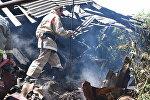 Пожар в Цхинвале
