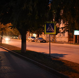 Вечерняя прогулка по городу Цхинвал