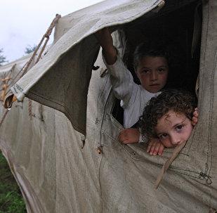 Беженцы из Цхинвала