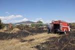 Ликвидация очагов возгорания на окраине Цхинвала